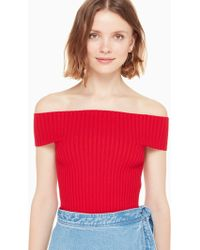 Kate Spade - Off The Shoulder Sweater - Lyst