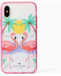 Kate Spade - Jeweled Flamingos Iphone X Case - Lyst