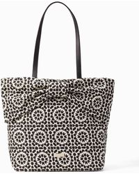 Kate Spade - On Purpose Floral Mosaic Canvas Bow Tote - Lyst