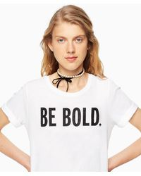 Kate Spade - Be Bold Tee - Lyst