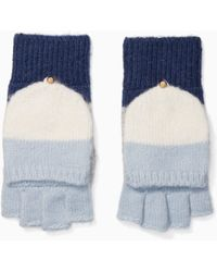 Kate Spade - Blushed Colorblock Pop Top Mittens - Lyst