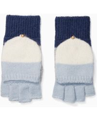 Kate Spade - Brushed Colorblock Pop Top Mittens - Lyst