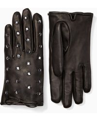 Kate Spade - Bedazzled Leather Gloves - Lyst