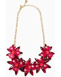 Kate Spade - Blooming Brilliant Statement Necklace - Lyst