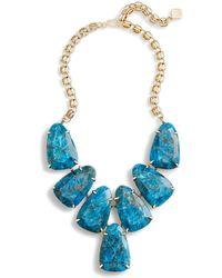 Kendra Scott - Harlow Statement Necklace In Aqua Apatite - Lyst