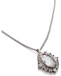 Kendra Scott - Kay Pendant Necklace In Antique Silver - Lyst