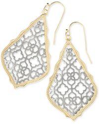Kendra Scott - Addie Gold Drop Earrings In Silver Filigree - Lyst