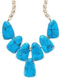 Kendra Scott - Harlow Gold Statement Necklace In Aqua Howlite - Lyst