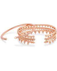 Kendra Scott - Delphine Pinch Bracelet Set In Rose Gold - Lyst