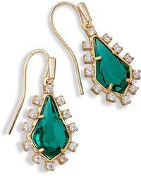 Kendra Scott - Juniper Drop Earrings In Emerald Glass - Lyst