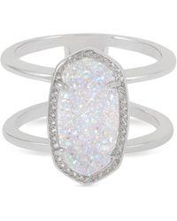 Kendra Scott - Elyse Silver Ring In Iridescent Drusy - Lyst