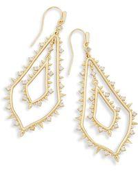 Kendra Scott - Alice Statement Earrings In Gold - Lyst