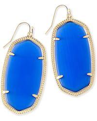 Kendra Scott - Elle Gold Drop Earrings - Lyst