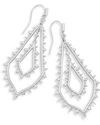 Kendra Scott - Alice Drop Earrings In Silver - Lyst