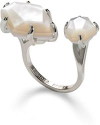 Kendra Scott - Kayla Silver Open Ring In Ivory Mother Of Pearl - Lyst