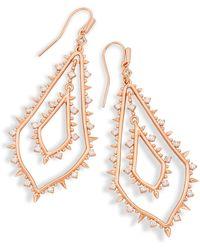 Kendra Scott - Alice Drop Earrings In Rose Gold - Lyst