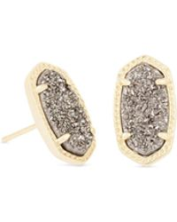 Kendra Scott - Ellie Gold Stud Earrings - Lyst