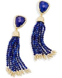Kendra Scott - Blossom Statement Earrings In Lapis - Lyst