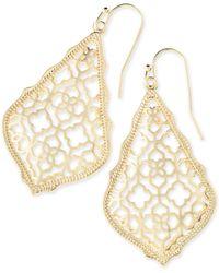 Kendra Scott - Addie Gold Drop Earrings - Lyst