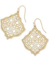 Kendra Scott - Kirsten Gold Drop Earrings - Lyst