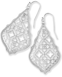 Kendra Scott - Addie Silver Drop Earrings - Lyst