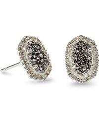 Kendra Scott - Cade Silver Stud Earrings - Lyst
