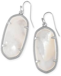 44a47218c Lyst - Kendra Scott Elle Silver Drop Earrings In Periwinkle Cats Eye ...
