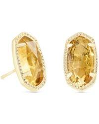 Kendra Scott - Ellie Gold Stud Earrings - Lyst