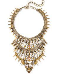 Kendra Scott - Serayah Statement Necklace In Antique Brass - Lyst
