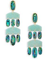 Kendra Scott - Emmet Gold Statement Earrings - Lyst