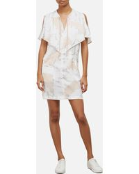Kenneth Cole - Floating Shapes Capelet Dress - Lyst