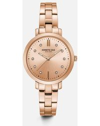 Kenneth Cole - Rose Gold-tone Stone Accent Watch - Lyst