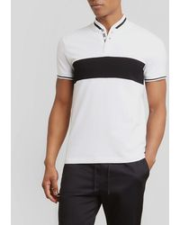 Kenneth Cole Reaction - Pique Colorblocked Collarband Shirt - Lyst