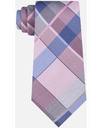 Kenneth Cole - Lunar Plaid Silk Tie - Lyst
