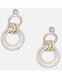 Kenneth Cole - Two-tone Trinity Rings Drop Earring - Lyst