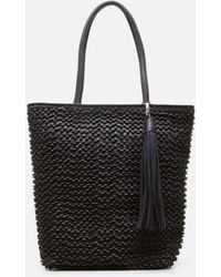 Kenneth Cole - Weave Leather Tote Bag - Lyst