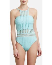 Kenneth Cole - Tough Luxe High-neck One-piece - Lyst