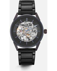 Kenneth Cole - Black Round Stainless Steel Watch - Lyst