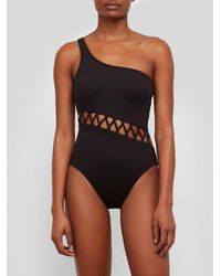 Kenneth Cole - Sexy Solids One Shoulder Zig Zag One-piece - Lyst