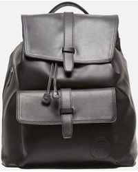 Kenneth Cole - The Black Leather Backpack 87 - Lyst