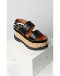 KENZO - Jade Platform Sandals - Lyst