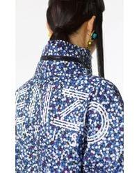 KENZO - 'jackie Flowers' Windbreaker Jacket - Lyst