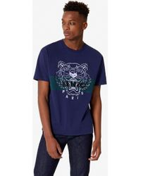 a44c3bc0 KENZO Rainbow Tiger T-shirt in Gray for Men - Lyst