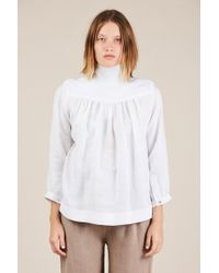 45245442710f8 Horses Atelier - High Collar Blouse - Lyst