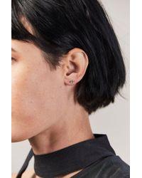 Wwake - Mini 3 Step Point Earrings - Lyst