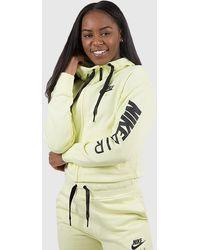Nike - Air Full Zip Cropped Fleece Hoodie - Lyst