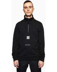 Stone Island | Half Zip Sweat-shirt Black | Lyst
