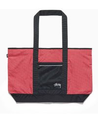 Stussy - Ripstop Nylon Tote Bag Red - Lyst
