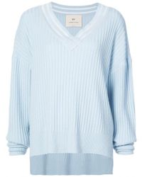 By. Bonnie Young - Oversized Varsity Cashmere Sweater - Lyst