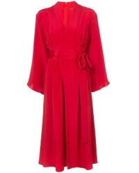 Adam Lippes - Kimono Midi Dress - Lyst